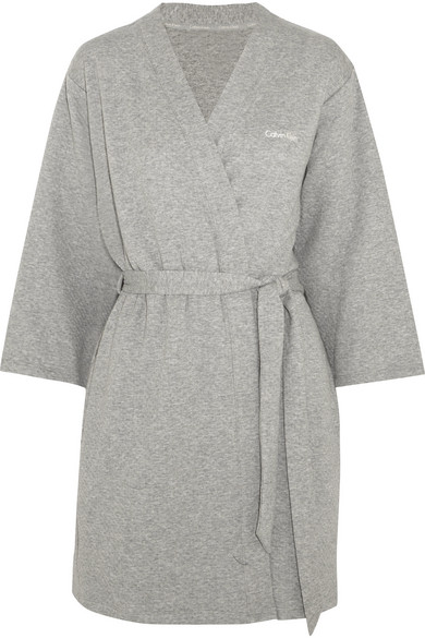 Calvin Klein Underwear - Harmony Quilted Cotton-blend Robe - Gray