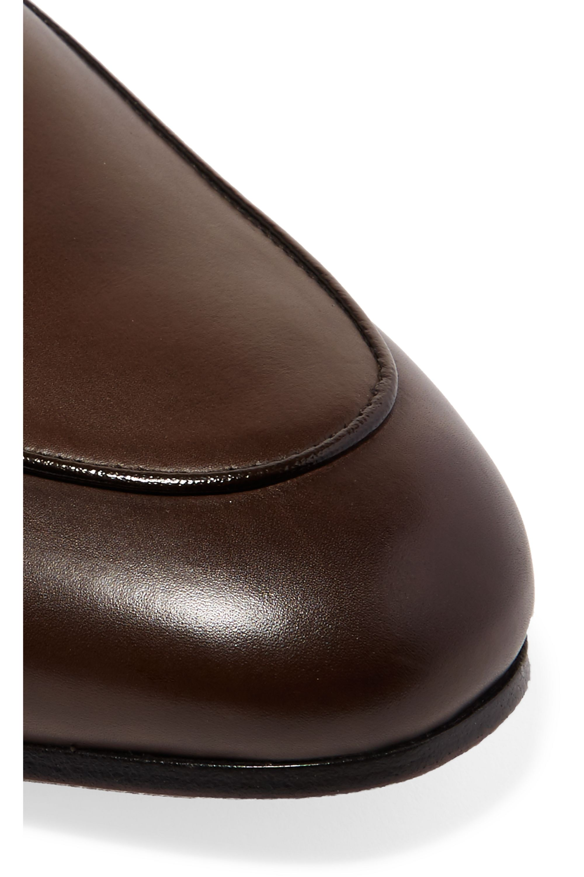 Gucci Horsebit-detailed shearling-lined leather slippers