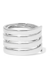 Coil sterling silver ring