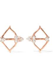 Cupid rose gold-plated topaz earrings