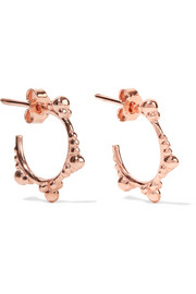 Rose gold-plated hoop earrings