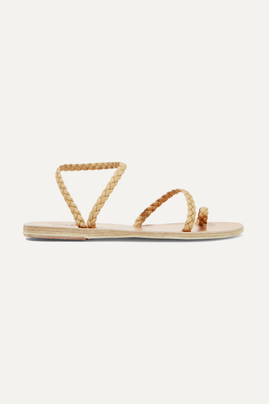 Ancient Greek Sandals - Eleftheria Braided Leather Sandals