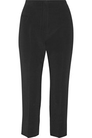 Cropped stretch-twill straight-leg pants