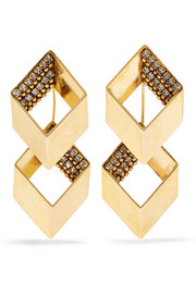 Smoking Jacket gold-plated Swarovski crystal earrings