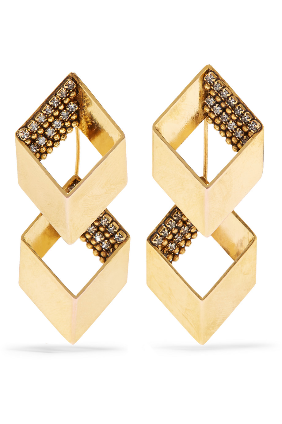 Erickson Beamon Smoking Jacket Gold-Plated Swarovski Crystal Earrings, Women's