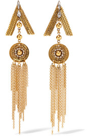 Erickson Beamon Awaken gold-plated crystal earrings