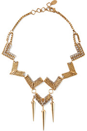 Erickson Beamon Awaken gold-plated Swarovski crystal necklace