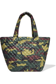 Metro medium camouflage-print shell tote