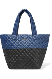 Metro two-tone quilted shell tote