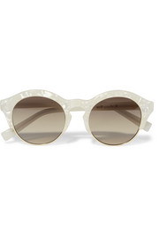 + Le Specs Luxe round-frame acetate and gold-tone sunglasses