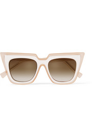 + Le Specs Luxe cat-eye matte-acetate sunglasses
