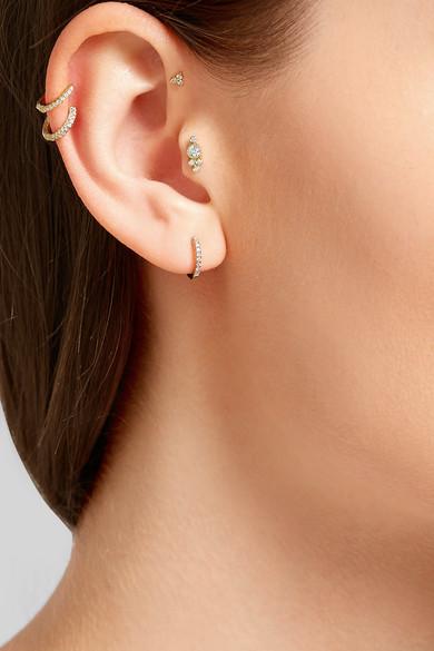 Maria Tash 18-karat White Gold Diamond Earring T622p4A