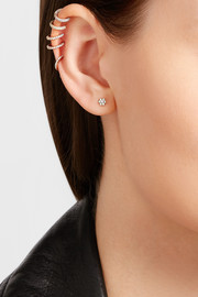 18-karat rose gold diamond earring