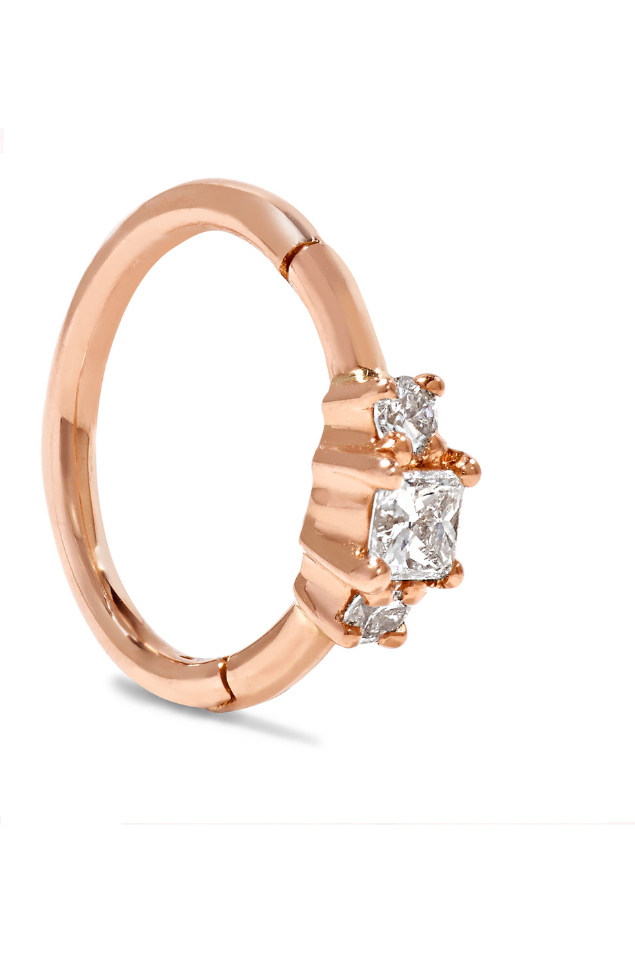 18-Karat Gold Diamond Earring, Rose Gold, Women's