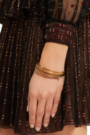 Alexander McQueen Set of four gold-tone embellished bracelets
