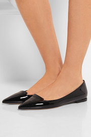 Jimmy Choo Attila patent-leather point-toe flats