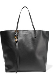 Alexander McQueen Skull textured-leather tote