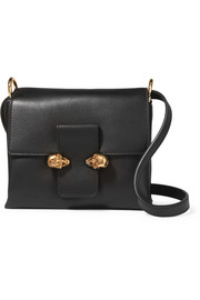 Alexander McQueen Twin Skull leather shoulder bag