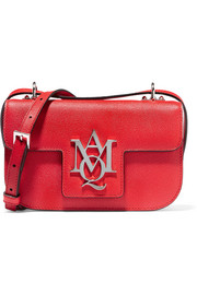 Alexander McQueen Insignia textured-leather satchel