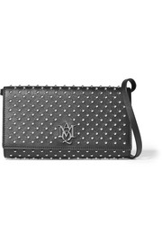 Alexander McQueen Studded textured-leather shoulder bag
