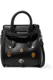 Alexander McQueen The Heroine mini embellished leather shoulder bag