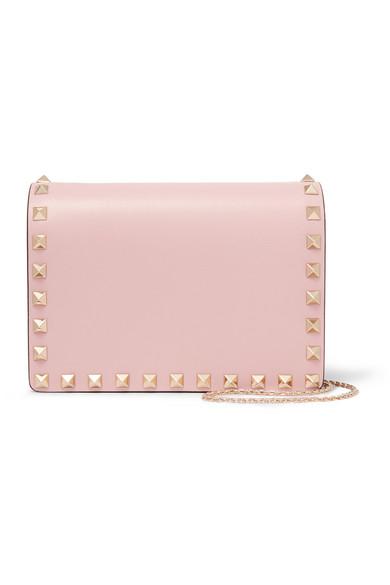 Valentino - The Rockstud Mini Leather Shoulder Bag - Baby pink