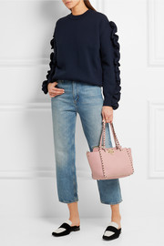 Valentino The Rockstud small textured-leather trapeze bag