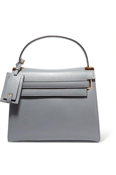 Valentino - My Rockstud Medium Leather Tote - Gray