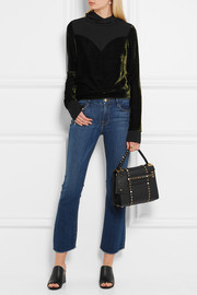 Valentino My Rockstud small embellished textured-leather tote