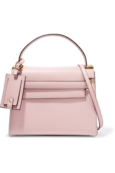Valentino - My Rockstud Small Leather Tote - Baby pink