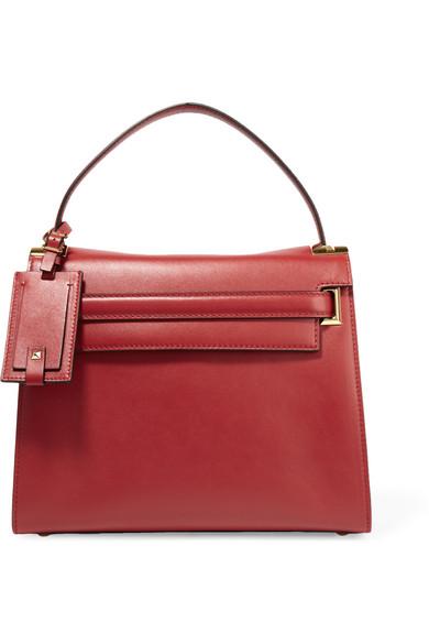 Valentino - My Rockstud Medium Leather Tote - Red