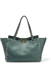 Valentino The Rockstud large textured-leather tote