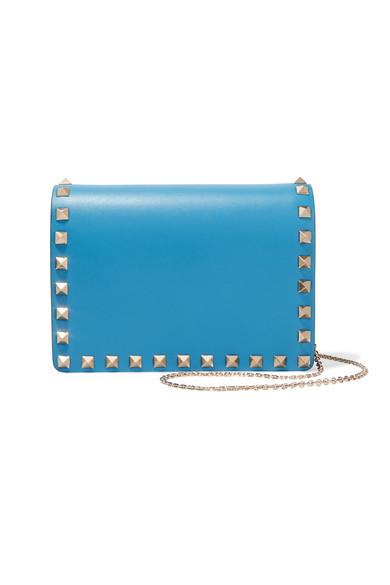 Valentino - The Rockstud Mini Leather Shoulder Bag - Azure