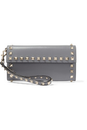 The Rockstud wristlet leather wallet