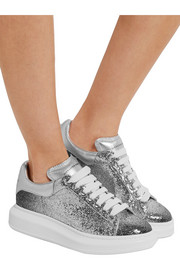 Alexander McQueen Dégradé glittered leather exaggerated-sole sneakers