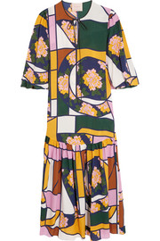 Naomi printed silk maxi dress