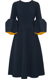 Roksanda Yasmin bonded stretch-crepe midi dress