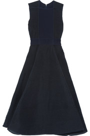 Roksanda Pleated ribbed crepe midi dress