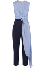 Thurloe draped cutout crepe jumpsuit