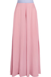 Leighton silk-blend muslin maxi skirt