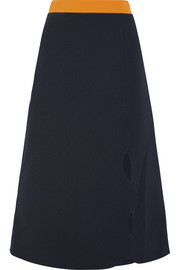 Jeanne two-tone crepe skirt