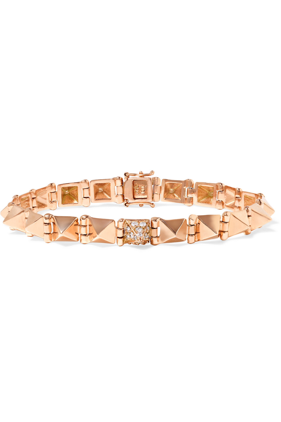 Anita Ko Spike 14-Karat Rose Gold Diamond Bracelet, Women's