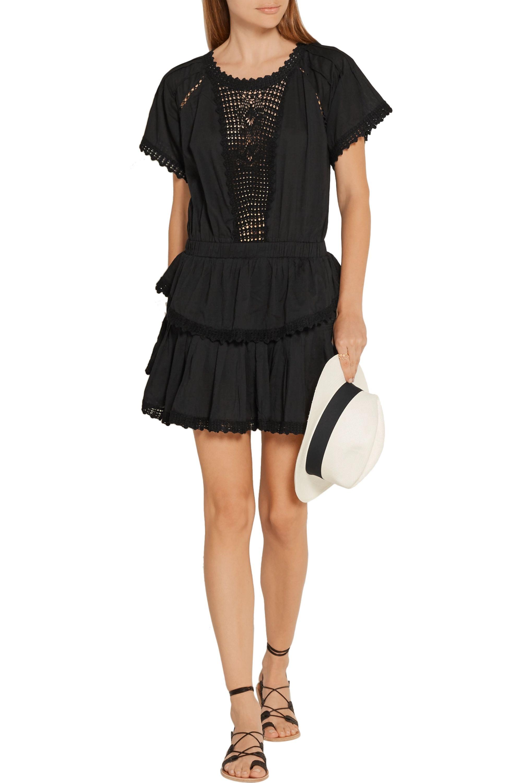 LoveShackFancy Carla crochet-trimmed cotton-voile mini dress