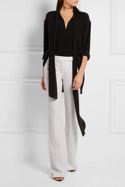 Alexander McQueen Grain de poudre wool flared pants
