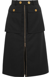 Wool-twill skirt