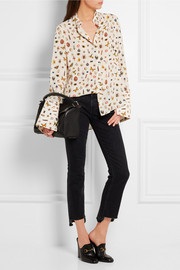 Alexander McQueen Obsession printed silk blouse