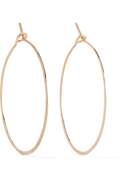 Brooke Gregson - Hammered 18-karat Rose Gold Earrings