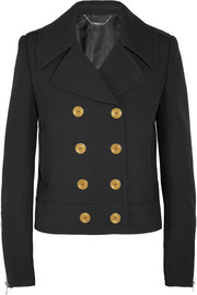 Alexander McQueen Double-breasted wool and silk-blend twill peacoat