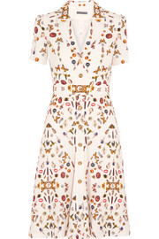 Obsession printed crepe dress