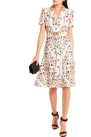 Alexander McQueen Obsession printed crepe dress
